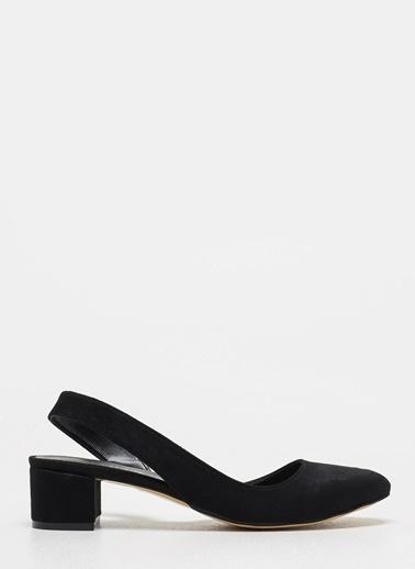 D by Divarese Kısa Topuklu Ayakkabı Siyah